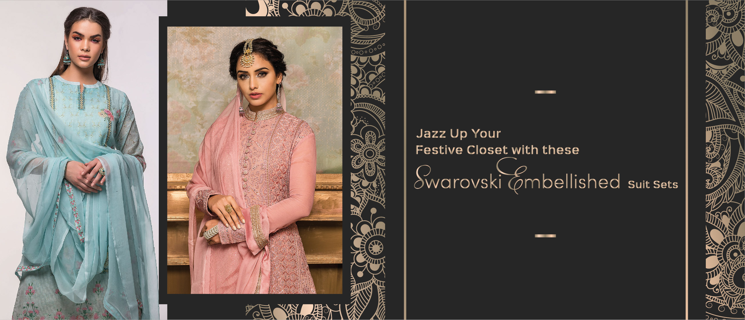 Jazz Up Your Festive Closet with These Swarovski Embellished Suit Sets