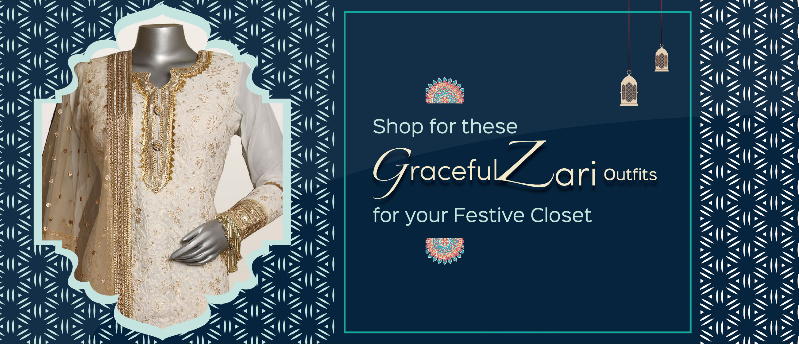 Shop for These Graceful Zari Outfits for Your Festive Closet