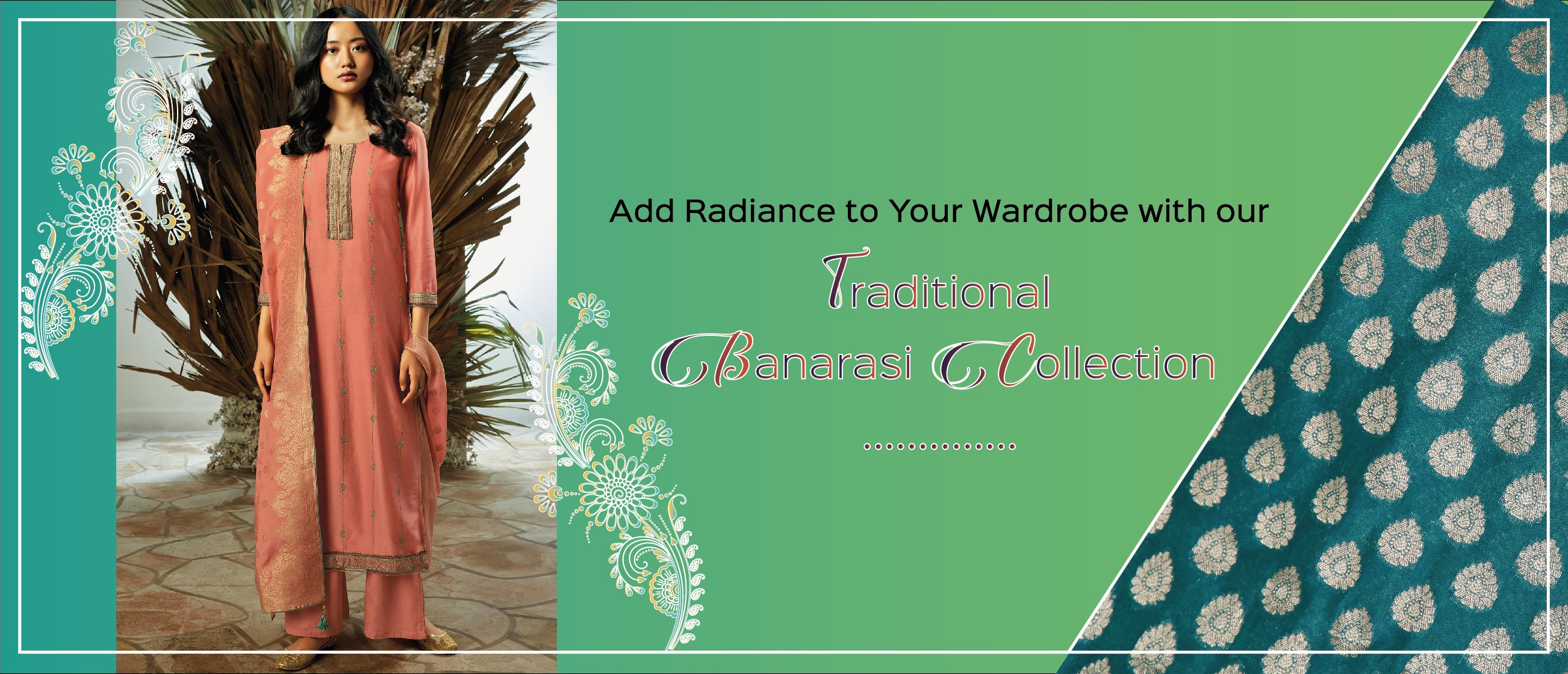 Add Radiance to Your Wardrobe with our Traditional Banarasi Collection