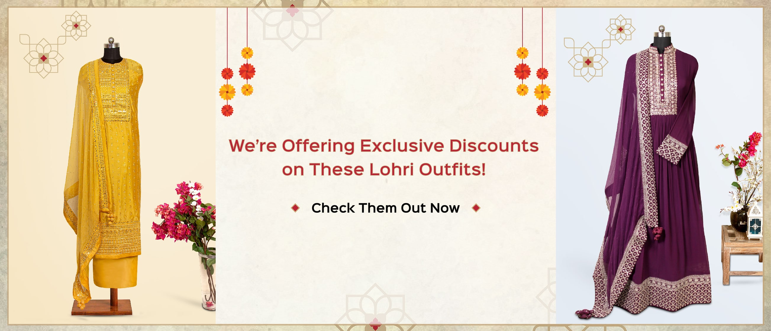We're Offering Exclusive Discounts on These Lohri Outfits! Check Them Out Now