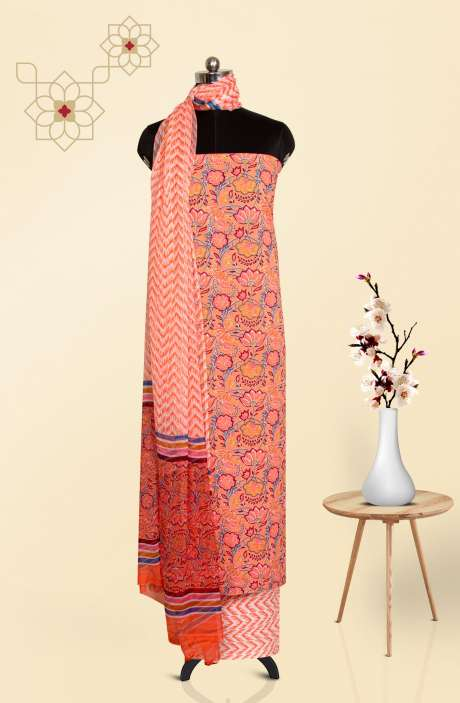 Cotton Printed Salwar Kameez In Multi - 247-SC1117C