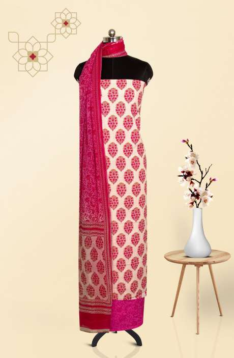 Cotton Printed Salwar Kameez In Multi - 247-SC929C