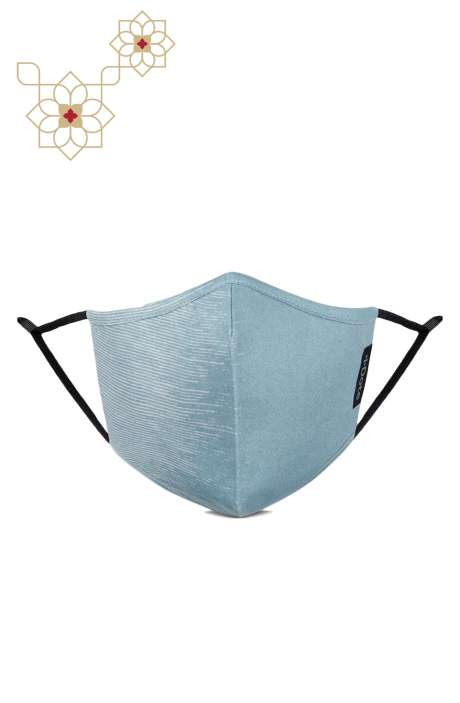 Superfine Soft Cotton Printed Antiviral Reusable Stylish Face Mask In Velocity Blue - 8905315001075