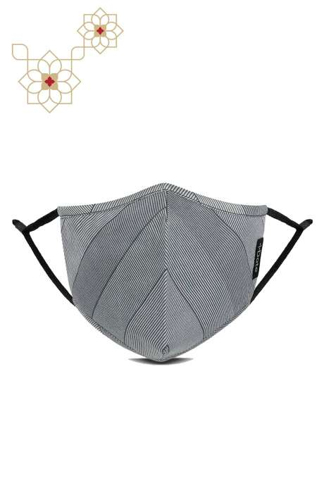Superfine Soft Cotton Printed Antiviral Reusable Stylish Face Mask In Rise - 8905315001280