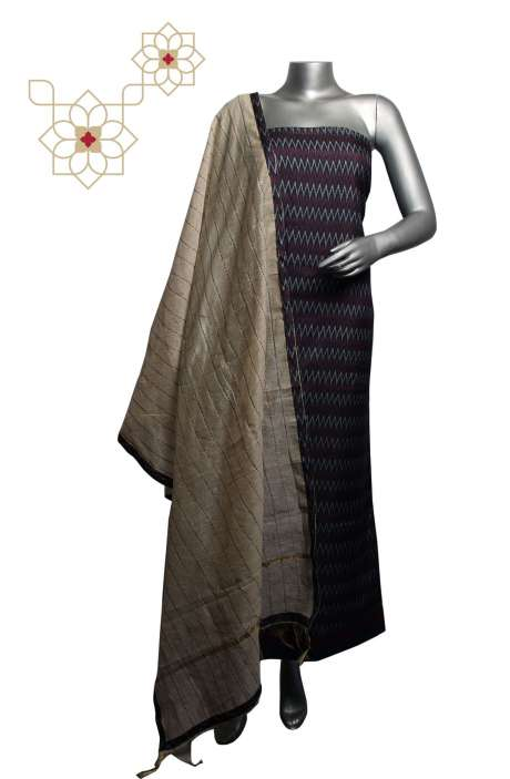 Russian Silk Digital Printed Multi & Maroon Salwar Suit Sets with Kantha Work Dupatta - 919-82D