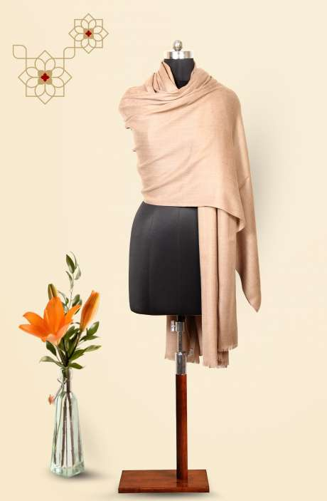 Beige MM Wool Shawl - 09916321