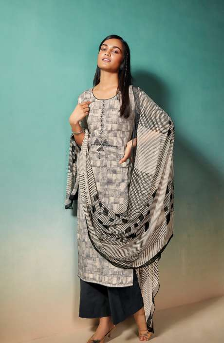 Cotton Printed Salwar Kameez with Chiffon Dupatta - EMIS0376A