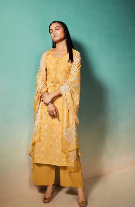 Cotton Printed Salwar Kameez with Chiffon Dupatta - EMIS0376C