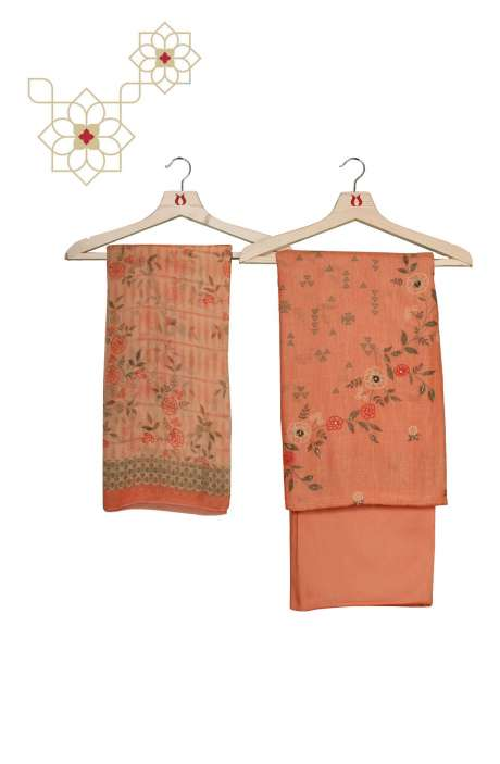 Modal Cotton Digital Printed Salwar Kameez In Peach - GUL937