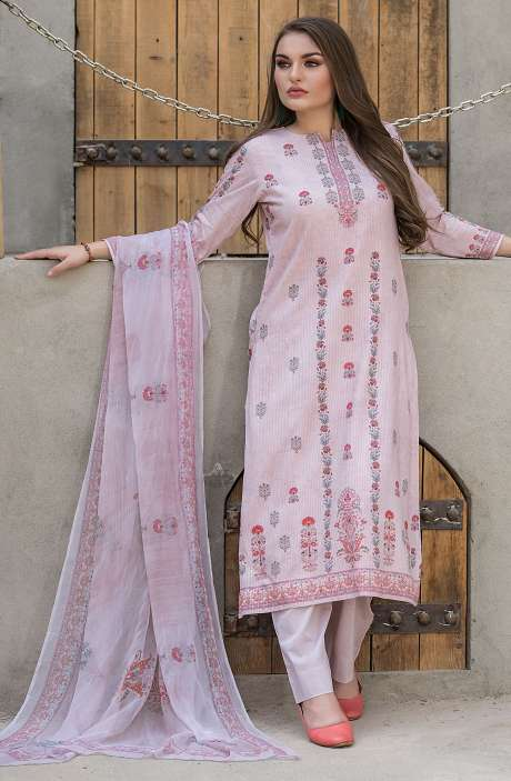 Modal Cotton Digital Printed Unstitched Salwar Suit Sets In Fawn - KHA1377