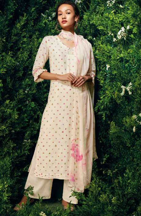 Cotton Beautiful Floral Digital Print Salwar Suit with Dupatta - LET7436
