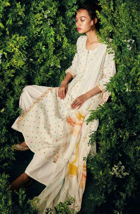 Beautiful Floral Digital Printed Cotton Salwar Suit with Dupatta - LET7438