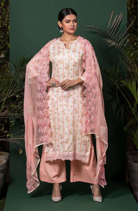 Cotton Digital Print Exclusive Salwar Suit Set In Pink - NAS5295