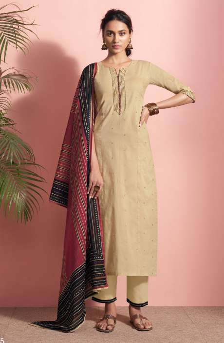 Cotton Lawn Casual Salwar Kameez In Beige - PAN5185
