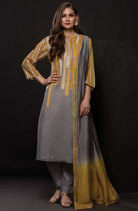 Semi-Stitched Modal Cotton Digital Printed Salwar Suit - R157-SPR397