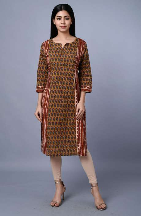 Womens Cotton Printed Kurti - R179-3340