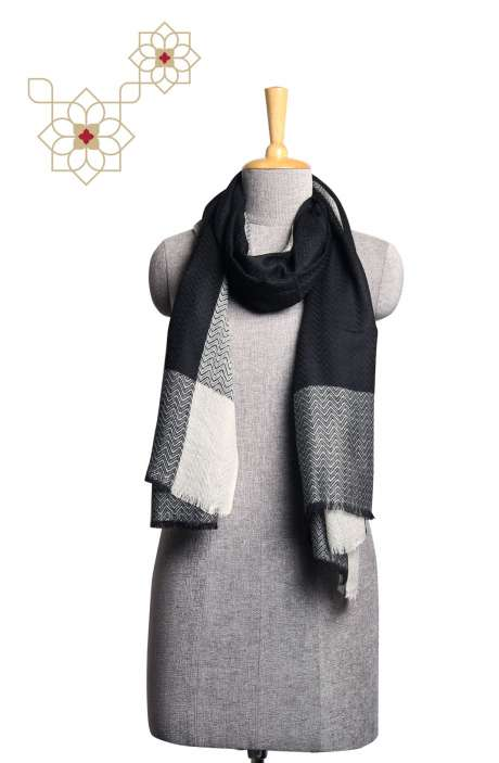 Fine Wool Multi-coloured Woven Stole - STO09874300