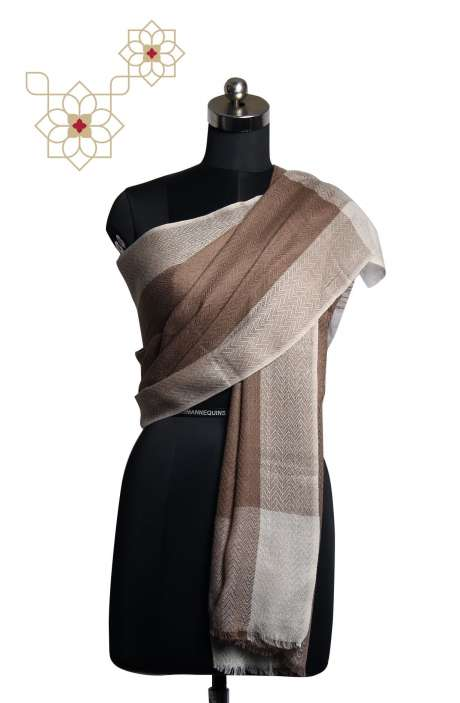 Fine Wool Multi-coloured Woven Stole - STO09874306