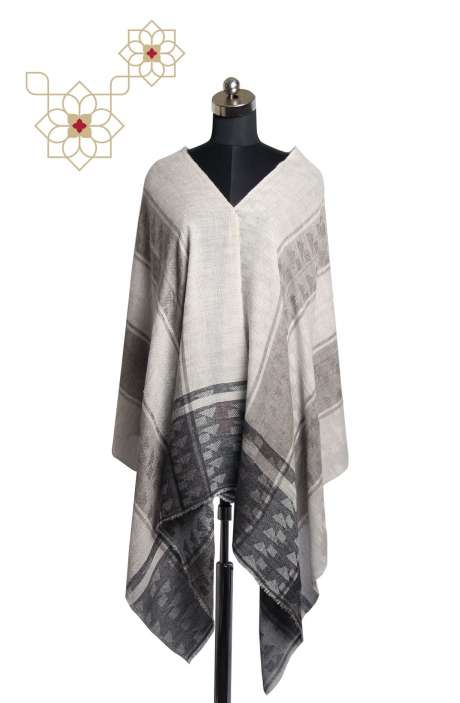 Multi-color Wool Woven Stole - STO09876896